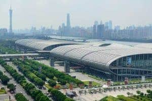 Guangzhou International Convention and Exhibition Centre and new Pazhou Complex