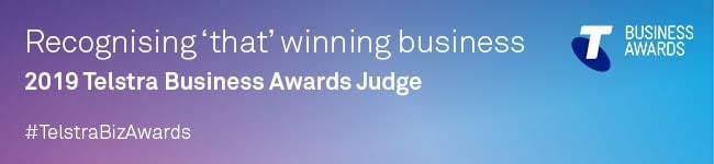 Telstra Business Awards Judge 2019